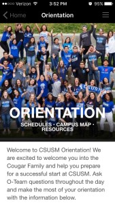Cal State San Marcos Orientation Home