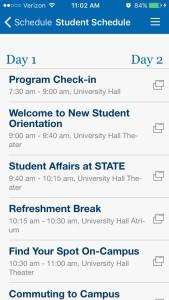Indiana State University Orientation Schedule