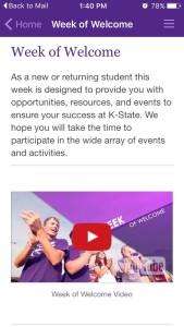 Kansas State University Week of Welcome