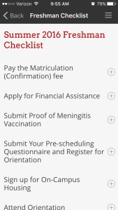 University of the Incarnate Word Orientation Checklist