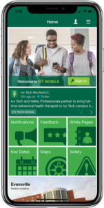 Ivy Tech iPhone screen Home