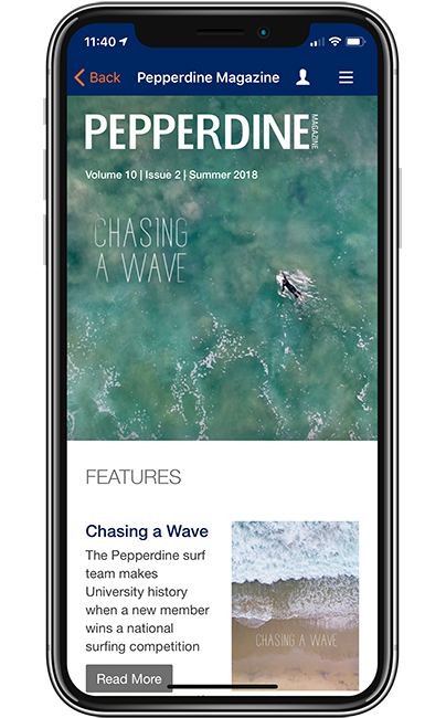 Pepperdine University Magazine screen