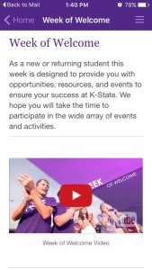 Kansas State University Week of Welcome